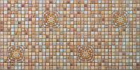 """Листовая панель ПВХ Регул мозаика """"Медальон коричневый"""" 0,4мм"""