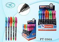 Ручка-самоучка шариковая масляная синяя  Piano прорезиненная