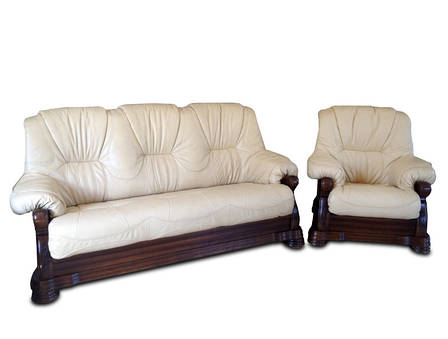 """Класична шкіряні меблі """"Віконт 5030"""" (3н + 1), фото 2"""