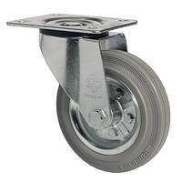 Колеса поворотные со станд.серой резиной Norma с крепеж.панелью,с ролик.подш.Ø80,100,125,160,200мм