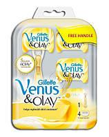 Набор Gillette Venus & Olay  4 шт + ручка производство Польша