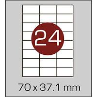 Этикетки самоклеящиеся А4 (70х37,1 мм) - 24 шт. на листе А4, 100 листов в картонной упаковке