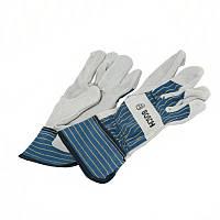 Защитные перчатки из бычьей кожи Bosch GL FL 10, 1 пара, 2607990108