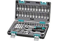Набор инструментов 1/4 CrV пластиковый кейс 57 предметов STELS 14101