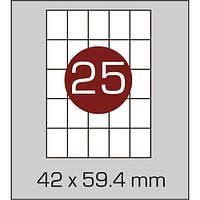 Этикетки самоклеящиеся (42х59,4 мм) - 25 шт. на листе А4, 100 листов в картонной упаковке