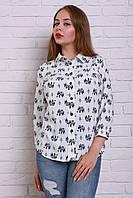Оригинальная белая блуза прямого покроя из новой осенней коллекции