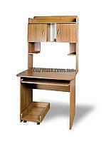 Компьютерный стол с тумбочками, СКМ-5, 80*60, орех лесной