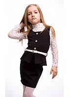 Черный школьный сарафан