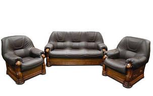 """Классический комплект кожаной мебели """"ANETA I, II"""" (3р+1), фото 2"""