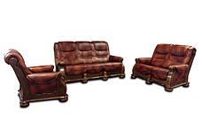"""Класична шкіряні меблі """"CEZAR I, II, III, IV"""" (3р+1), фото 3"""