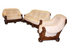 """Класична шкіряні меблі """"CEZAR I, II, III, IV"""" (3р+1), фото 2"""