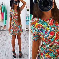 Платье красивое в принт пейсли SMb245