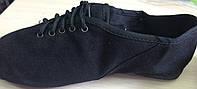 Туфли-джазовки детские низкие кирза на шнурках эконом