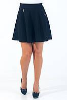 Молодежная женская юбка чёрного цвета