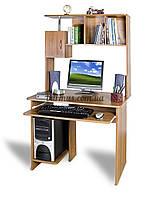 Стол компьютерный с тумбочка, СК-Омега , 90*65, Орех лесной