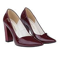 f0ce18c8b Лодочки туфли ZanZara (лаковые, бордового цвета, на высоком каблуке,  стильные)