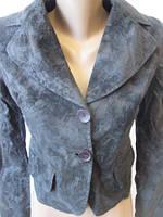 Стильный пиджак женский с золотистым напылением, фото 1