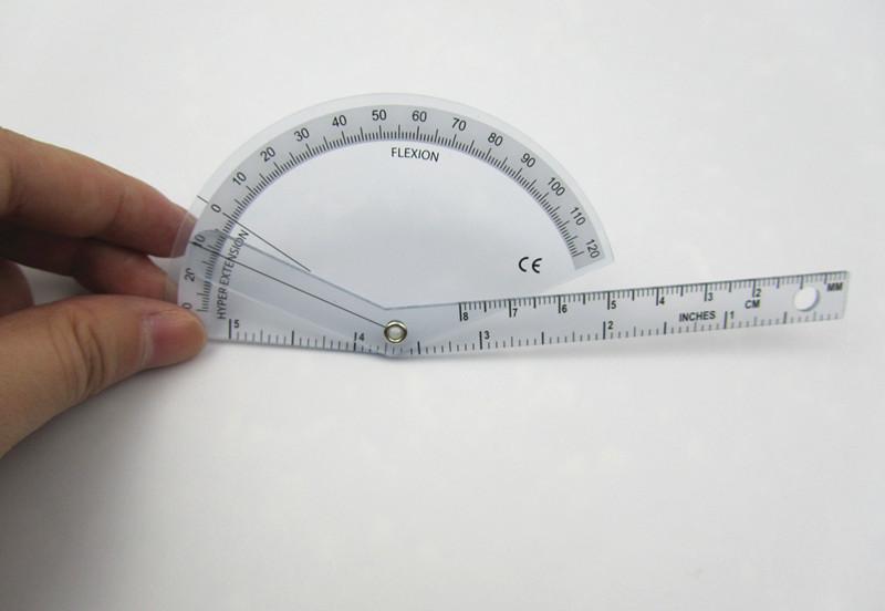 Гониометр линейка для измерения подвижности суставов пальцев 140 мм 180°