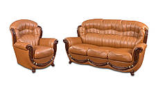Шкіряний комплект меблів Джозеф, м'які меблі, меблі в шкірі, шкіряні меблі, комплект меблів, фото 3