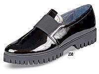Туфли женские кожаные лаковые МИДА 21615 черные.