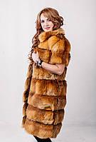 Женская шуба из меха лисы