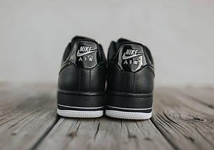 Кроссовки мужские в стиле Nike Air Force 1 Low Black-Summit White, фото 3