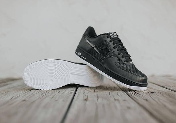 Кроссовки мужские в стиле Nike Air Force 1 Low Black-Summit White, фото 2