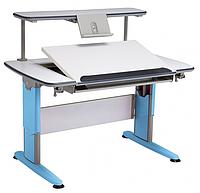 Детская парта растишка стол трансформер Mealux Boston BD-161 W/B (белый/ножки синие)