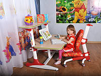 Детская парта растишка стол трансформер Mealux Platon BD-205 WR maple + полка BD-PK5