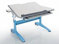 Детская парта растишка стол трансформер Mealux Ferrari 2 BD-155 W (B) (столешница белая/ножки белые с синим)