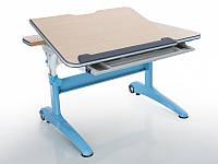 Детская парта растишка стол трансформер Mealux Ferrari 2 BD-155 MG (B) (столешница клен/ножки белые с синим)