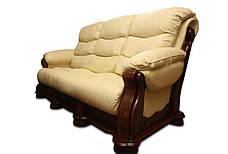 Шкіряний розкладний трьохмісний диван CEZAR V (212см), фото 2
