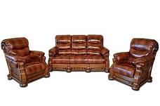 Шкіряний розкладний трьохмісний диван CEZAR V (212см), фото 3