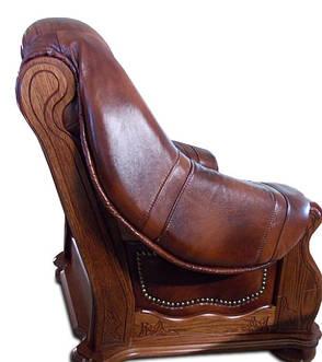 """Классический раскладной диван """"CEZAR"""" в коже (212см), фото 2"""