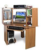 Угловой компьютерный стол с полками, СК-91, 90*90, яблоня-локарно, фото 1
