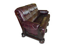 """Классический раскладной диван """"CEZAR"""" в коже (212см), фото 3"""