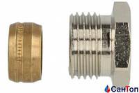 """Зажимной резьбовой фитинг Heimeier  для медной или стальной трубы 15 х 1/2"""" НР"""