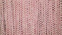 Шторы нити кисея однотонные  спиральки облака карнавал розовые №5