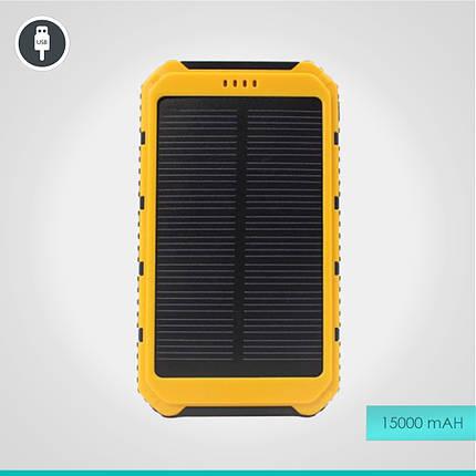 УМБ Power Bank на солнечной батарее 15000 mAh, фото 2