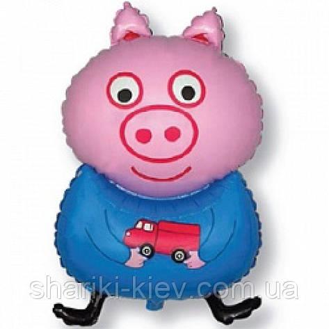 Шарик Фольгированный ГЕЛИЙ Большой Свинка Пеппа  Джорж на День рождения в стиле Свинка Пеппа, фото 2