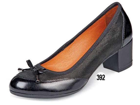 Туфли женские кожаные на невысоком каблуке МИДА 21587 черные., фото 2