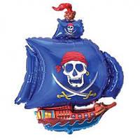 """Фольгированный шарик с гелием """"Пиратский Корабль"""" Большой на День рождения"""