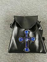 Рюкзак из экокожи на шнуровке с украшением P3360