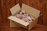 Камни для сауны розовый кварцит колотый, 10 кг