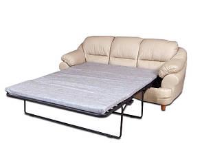 Раскладной кожаный диван Sara, раскладной диван, мягкий диван, мебель из кожи, диван, фото 2