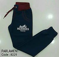 Синие спортивные штаны на подростков Hermes размеры:164,170, 176 роста