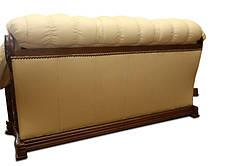 Прямий розкладний шкіряний диван OSKAR (190см), фото 3