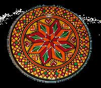 Расписная тарелка до 11 см., фото 1