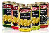 Оливки черные с косточкой La Sevillana