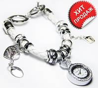 Женские часы Pandora, браслет с часами Пандора белые